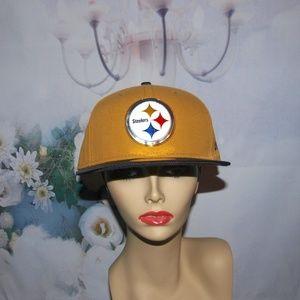 Pittsburgh Steelers Hat Fancy Metallic Logo NWT